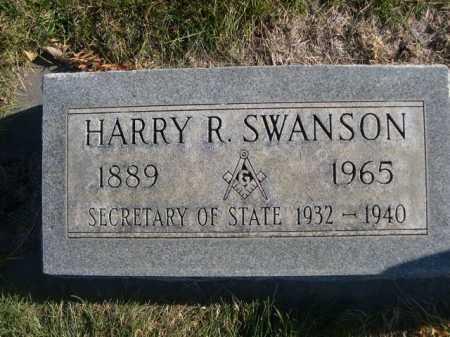 SWANSON, HARRY R. - Dawes County, Nebraska   HARRY R. SWANSON - Nebraska Gravestone Photos