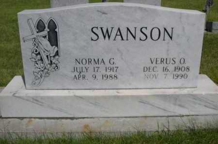SWANSON, NORMA G. - Dawes County, Nebraska | NORMA G. SWANSON - Nebraska Gravestone Photos