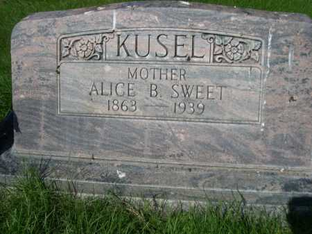 SWEET KUSEL, ALICE B. - Dawes County, Nebraska | ALICE B. SWEET KUSEL - Nebraska Gravestone Photos