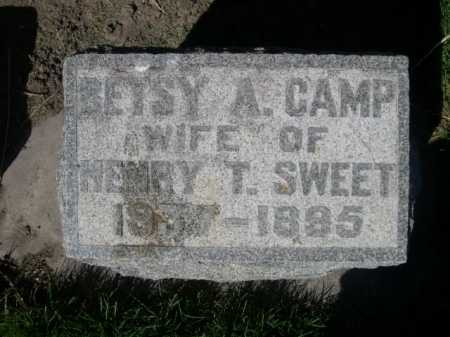 CAMP SWEET, BETSY A. - Dawes County, Nebraska | BETSY A. CAMP SWEET - Nebraska Gravestone Photos