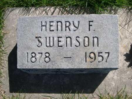 SWENSON, HENRY F. - Dawes County, Nebraska   HENRY F. SWENSON - Nebraska Gravestone Photos