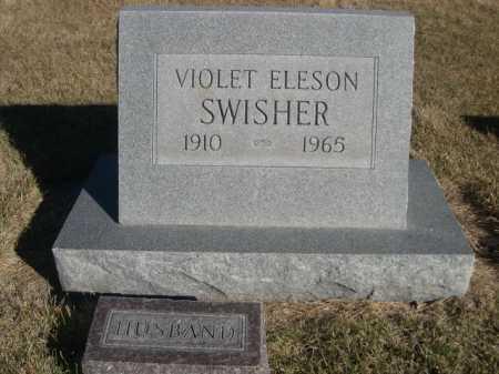 ELESON SWISHER, VIOLET ELESON - Dawes County, Nebraska   VIOLET ELESON ELESON SWISHER - Nebraska Gravestone Photos