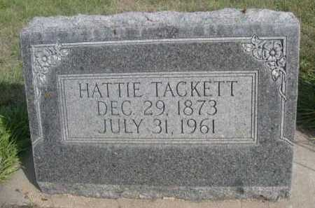 TACKETT, HATTIE - Dawes County, Nebraska | HATTIE TACKETT - Nebraska Gravestone Photos