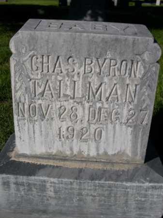 TALLMAN, CHAS. BYRON - Dawes County, Nebraska | CHAS. BYRON TALLMAN - Nebraska Gravestone Photos