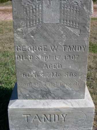 TANDY, GEORGE W. - Dawes County, Nebraska   GEORGE W. TANDY - Nebraska Gravestone Photos