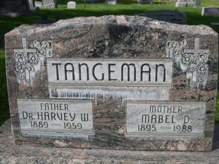 TANGEMAN, DR. HARVEY W. - Dawes County, Nebraska | DR. HARVEY W. TANGEMAN - Nebraska Gravestone Photos