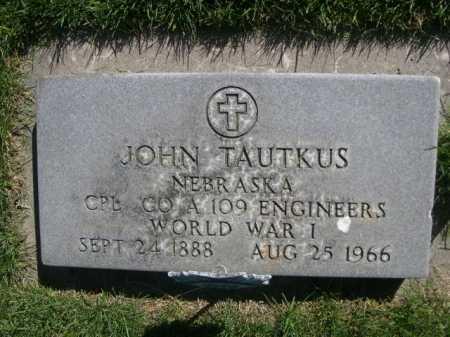 TAUTKUS, JOHN - Dawes County, Nebraska | JOHN TAUTKUS - Nebraska Gravestone Photos