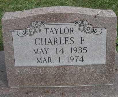 TAYLOR, CHARLES F. - Dawes County, Nebraska | CHARLES F. TAYLOR - Nebraska Gravestone Photos