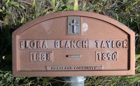TAYLOR, FLORA BLANCH - Dawes County, Nebraska | FLORA BLANCH TAYLOR - Nebraska Gravestone Photos