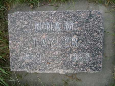 TAYLOR, NINA M. - Dawes County, Nebraska | NINA M. TAYLOR - Nebraska Gravestone Photos