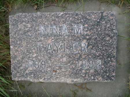 TAYLOR, NINA M. - Dawes County, Nebraska   NINA M. TAYLOR - Nebraska Gravestone Photos
