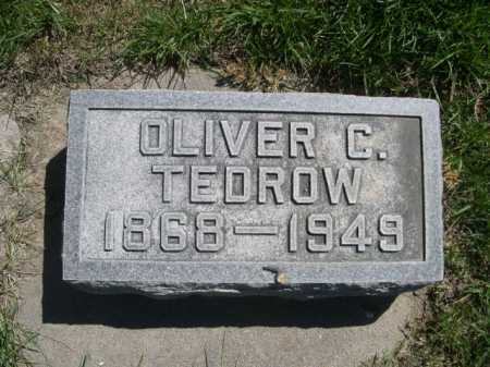 TEDROW, OLIVER C. - Dawes County, Nebraska | OLIVER C. TEDROW - Nebraska Gravestone Photos