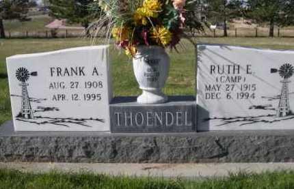 CAMP THOENDEL, RUTH E. - Dawes County, Nebraska | RUTH E. CAMP THOENDEL - Nebraska Gravestone Photos