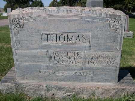THOMAS, FLORENCE E. - Dawes County, Nebraska | FLORENCE E. THOMAS - Nebraska Gravestone Photos