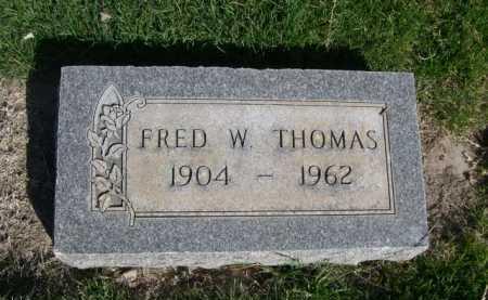 THOMAS, FRED W. - Dawes County, Nebraska   FRED W. THOMAS - Nebraska Gravestone Photos