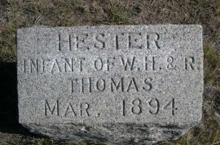 THOMAS, HESTER - Dawes County, Nebraska   HESTER THOMAS - Nebraska Gravestone Photos