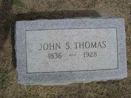 THOMAS, JOHN S. - Dawes County, Nebraska | JOHN S. THOMAS - Nebraska Gravestone Photos