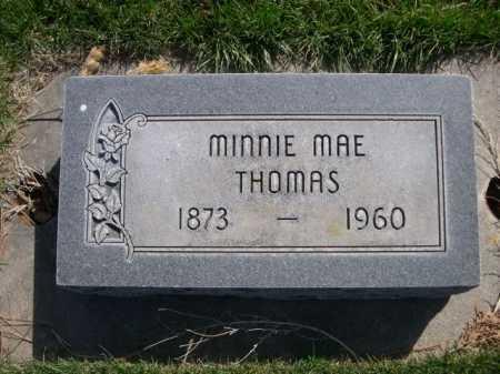 THOMAS, MINNIE MAE - Dawes County, Nebraska   MINNIE MAE THOMAS - Nebraska Gravestone Photos