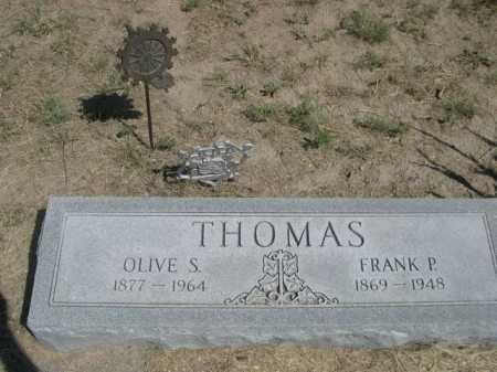 THOMAS, OLIVE S. - Dawes County, Nebraska | OLIVE S. THOMAS - Nebraska Gravestone Photos