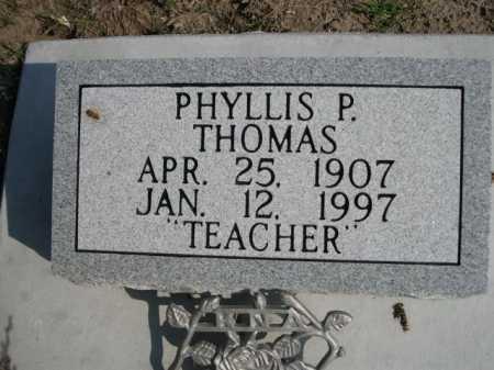 THOMAS, PHYLLIS P. - Dawes County, Nebraska   PHYLLIS P. THOMAS - Nebraska Gravestone Photos