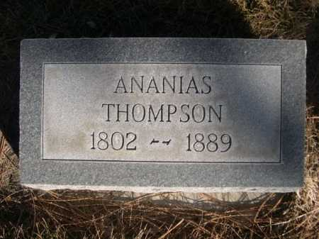 THOMPSON, ANANIAS - Dawes County, Nebraska | ANANIAS THOMPSON - Nebraska Gravestone Photos