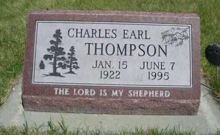 THOMPSON, CHARLES EARL - Dawes County, Nebraska | CHARLES EARL THOMPSON - Nebraska Gravestone Photos
