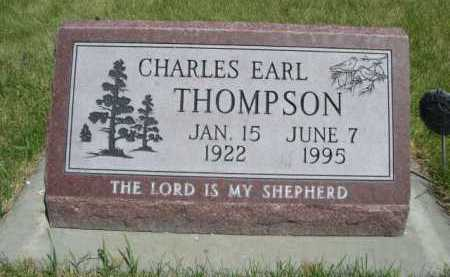 THOMPSON, CHARLES EARL - Dawes County, Nebraska | CHARLES EARL THOMPSON - Nebraska Gravestone Photos