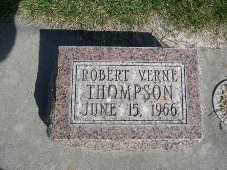 THOMPSON, ROBERT VERNE - Dawes County, Nebraska | ROBERT VERNE THOMPSON - Nebraska Gravestone Photos