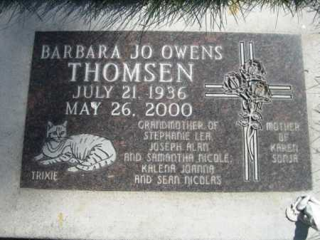 OWENS THOMSEN, BARBARA JO - Dawes County, Nebraska | BARBARA JO OWENS THOMSEN - Nebraska Gravestone Photos