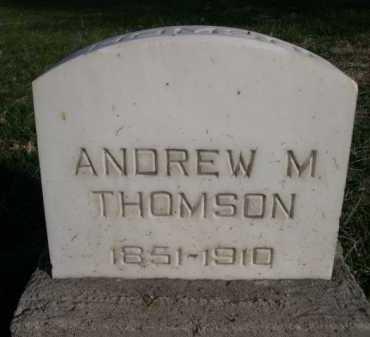 THOMSON, ANDREW M. - Dawes County, Nebraska | ANDREW M. THOMSON - Nebraska Gravestone Photos