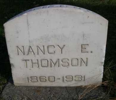 THOMSON, NANCY E. - Dawes County, Nebraska | NANCY E. THOMSON - Nebraska Gravestone Photos
