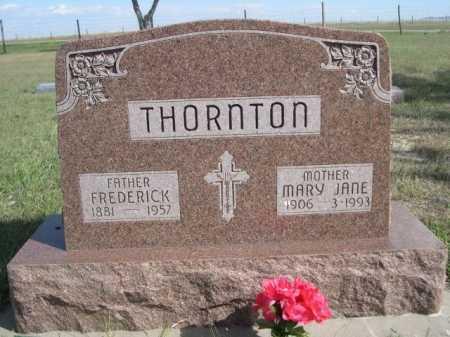 THORNTON, FREDERICK - Dawes County, Nebraska | FREDERICK THORNTON - Nebraska Gravestone Photos