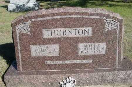 THORNTON, GERTRUDE M. - Dawes County, Nebraska   GERTRUDE M. THORNTON - Nebraska Gravestone Photos
