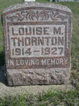 THORNTON, LOUISE M. - Dawes County, Nebraska | LOUISE M. THORNTON - Nebraska Gravestone Photos