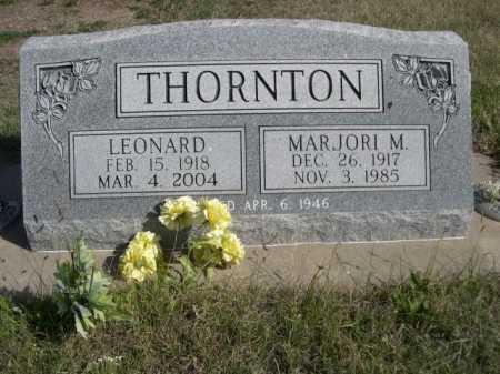 THORNTON, LEONARD - Dawes County, Nebraska | LEONARD THORNTON - Nebraska Gravestone Photos