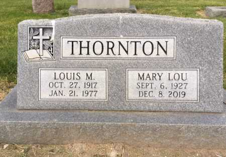 THORNTON, MARY LOU - Dawes County, Nebraska | MARY LOU THORNTON - Nebraska Gravestone Photos