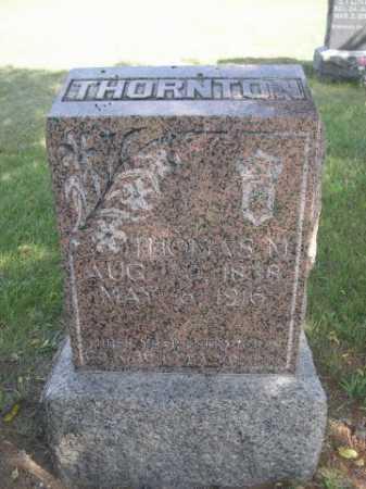 THORNTON, THOMAS M. - Dawes County, Nebraska   THOMAS M. THORNTON - Nebraska Gravestone Photos
