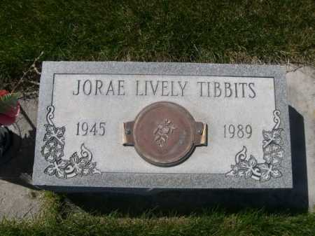 LIVELY TIBBITS, JORAE LIVELY - Dawes County, Nebraska | JORAE LIVELY LIVELY TIBBITS - Nebraska Gravestone Photos