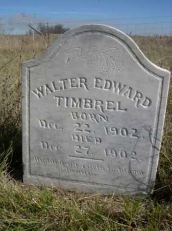TIMBREL, WALTER EDWARD - Dawes County, Nebraska   WALTER EDWARD TIMBREL - Nebraska Gravestone Photos
