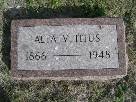 TITUS, ALTA V. - Dawes County, Nebraska | ALTA V. TITUS - Nebraska Gravestone Photos
