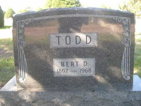 TODD, BERT D. - Dawes County, Nebraska   BERT D. TODD - Nebraska Gravestone Photos
