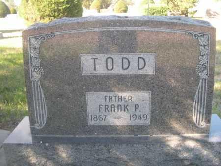 TODD, FRANK P. - Dawes County, Nebraska   FRANK P. TODD - Nebraska Gravestone Photos