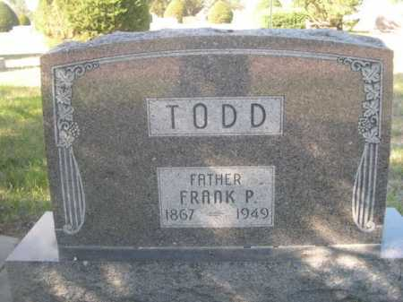 TODD, FRANK P. - Dawes County, Nebraska | FRANK P. TODD - Nebraska Gravestone Photos