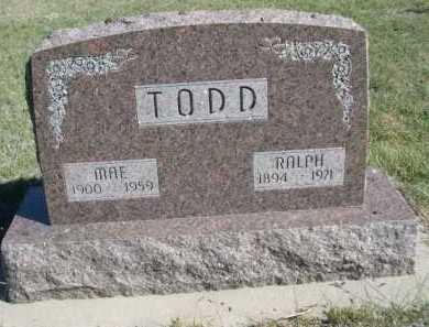 TODD, RALPH - Dawes County, Nebraska | RALPH TODD - Nebraska Gravestone Photos