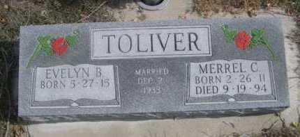 TOLIVER, EVELYN B. - Dawes County, Nebraska | EVELYN B. TOLIVER - Nebraska Gravestone Photos