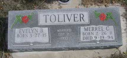 TOLIVER, MERREL C. - Dawes County, Nebraska | MERREL C. TOLIVER - Nebraska Gravestone Photos