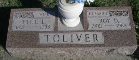 TOLIVER, TILLIE L. - Dawes County, Nebraska | TILLIE L. TOLIVER - Nebraska Gravestone Photos