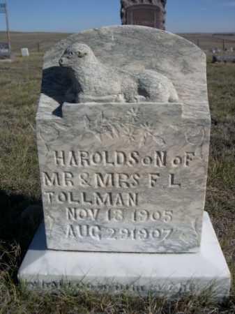TOLLMAN, HAROLD - Dawes County, Nebraska | HAROLD TOLLMAN - Nebraska Gravestone Photos