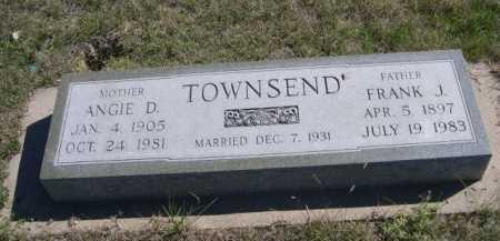 TOWNSEND, FRANK J. - Dawes County, Nebraska | FRANK J. TOWNSEND - Nebraska Gravestone Photos
