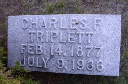 TRIPLETT, CHARLES F. - Dawes County, Nebraska | CHARLES F. TRIPLETT - Nebraska Gravestone Photos